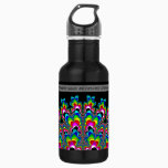 Rainbow Waterfall - Fractal Art Stainless Steel Water Bottle