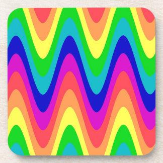 Rainbow Wave Coasters