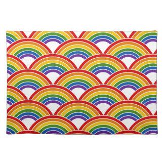 Rainbow Wave Pattern Art Cloth Placemat