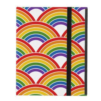 Rainbow Wave Pattern Art iPad Case