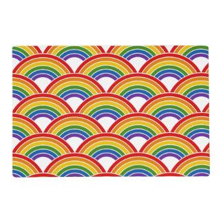 Rainbow Wave Pattern Art Placemat
