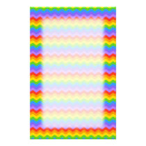 Rainbow Wave Stripes. Stationery