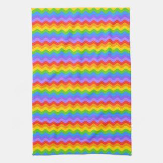 Rainbow Wave Stripes. Towel