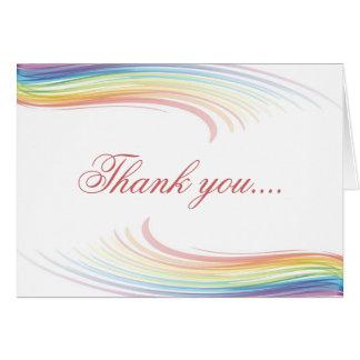 Rainbow Wave Thank you Card