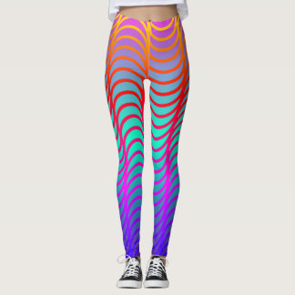 Rainbow Waves Leggings