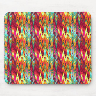 Rainbow Waves Mouse Pad