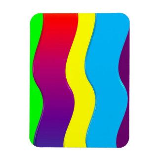 Rainbow Waves Vinyl Magnet