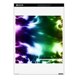 Rainbow Waves PS3 Slim Console Skins