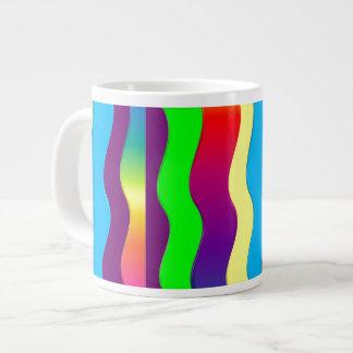Rainbow Waves Jumbo Mugs