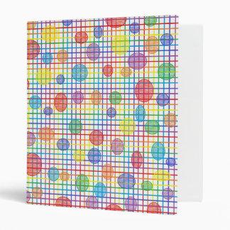 Rainbow Weave and Polka Dots 3 Ring Binder