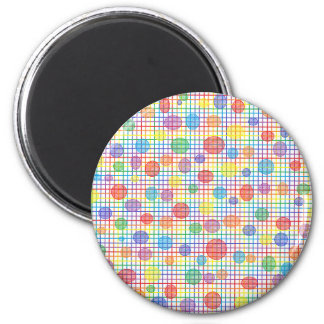 Rainbow Weave and Polka Dots Magnet