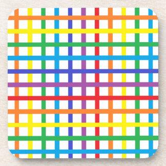 Rainbow Weave Coasters