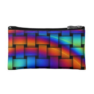 Rainbow Weave Makeup Bag