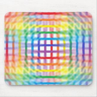 Rainbow Weave Ripple Mousepad