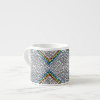 Rainbow Weave 6 Oz Ceramic Espresso Cup