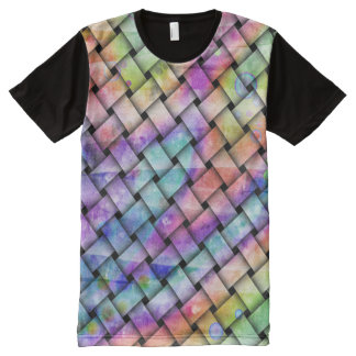 RAINBOW WEAVED All-Over-Print T-Shirt