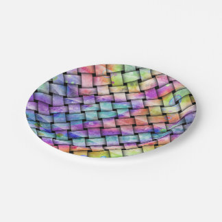 RAINBOW WEAVED PAPER PLATE