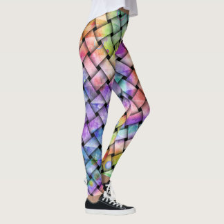 Rainbow Weaved Tights -