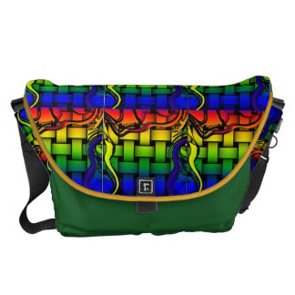 Rainbow Weaver Messenger Bags