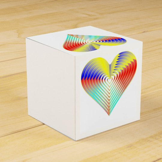 Rainbow Wedding Favor Heart Box