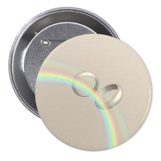 Rainbow Wedding Rings Pin