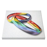 Rainbow Wedding Rings for Marriage Equality Canvas Print