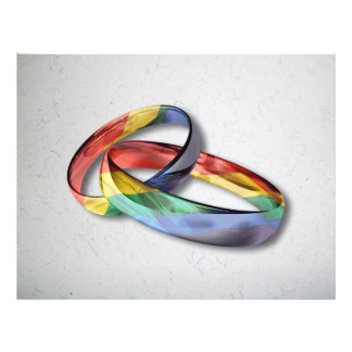 Rainbow Wedding Rings for Marriage Equality Flyer