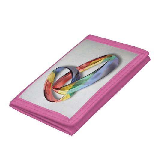 Rainbow Wedding Rings For Marriage Equality Trifold Wallet Zazzle Com