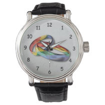 Rainbow Wedding Rings for Marriage Equality Wristwatch