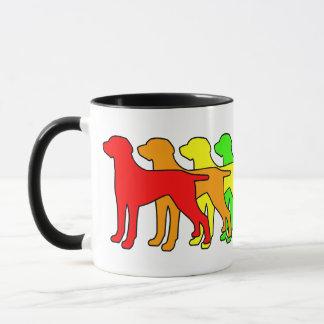 Rainbow Weimaraner Mug