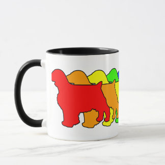 Rainbow Welsh Springer Mug