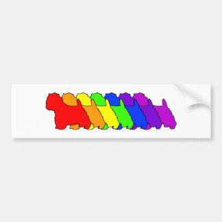 Rainbow Westie Bumper Sticker
