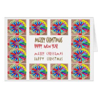Rainbow Wheel Chakra  : MerryChristmas Merry Xmas Greeting Card