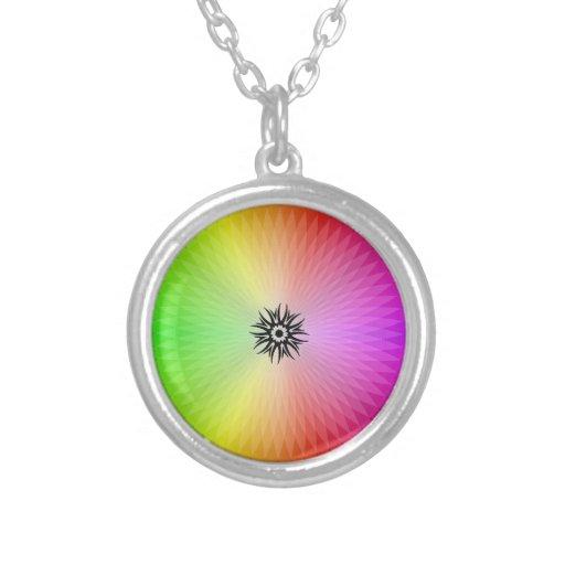 Rainbow Wheel Necklaces