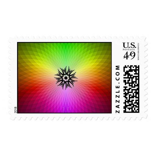Rainbow Wheel Stamp