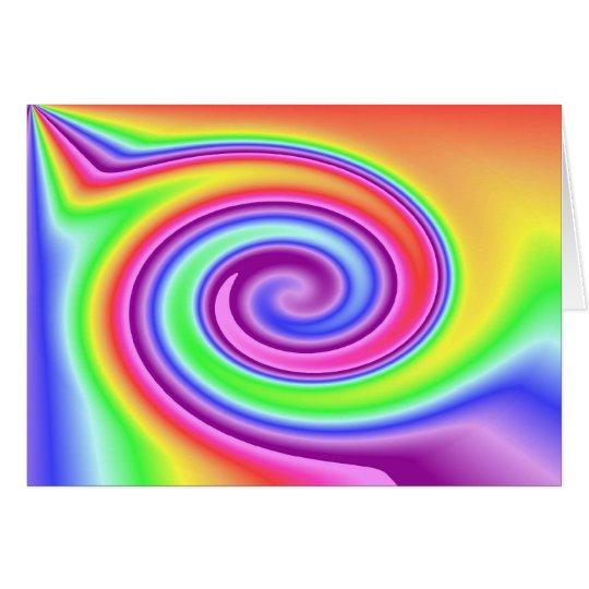 Rainbow Whirl Card