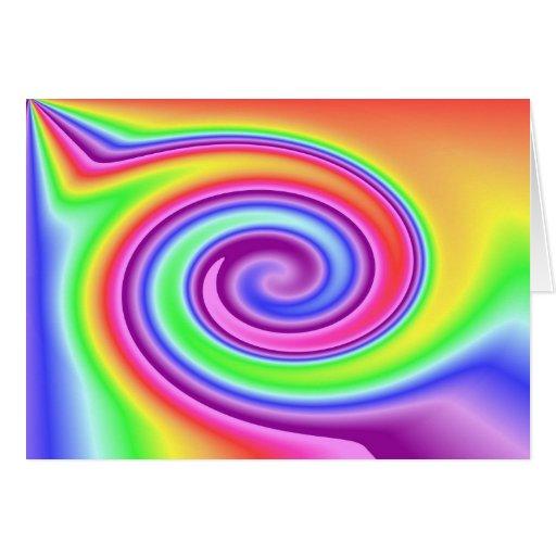 Rainbow Whirl Greeting Card