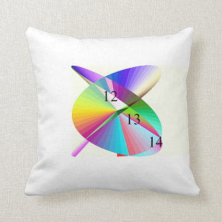Rainbow Whirligig Throw Pillow