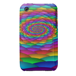 Rainbow whirlpool, Abstract iPhone 3G/3GS case Case-Mate iPhone 3 Cases
