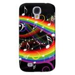 Rainbow White Music Notes HTC Vivid HTC Vivid Case