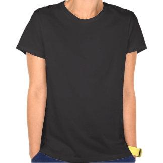 Rainbow White Music Notes on Black Tshirts