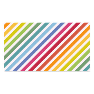 Rainbow & White Stripes Business Card Templates