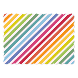 Rainbow & White Stripes Card