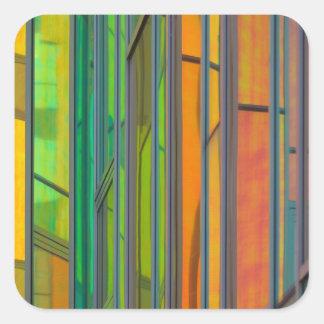 Rainbow window square sticker