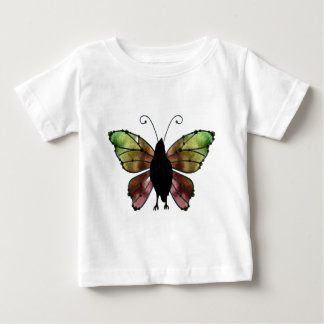 Rainbow Wing Butterfly Raven Baby T-Shirt