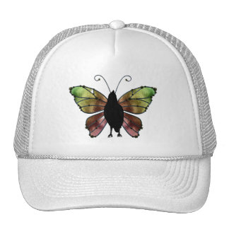 Rainbow Wing Butterfly Raven Hats