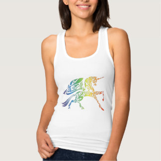 Rainbow Winged Unicorn Ladies Tank Top