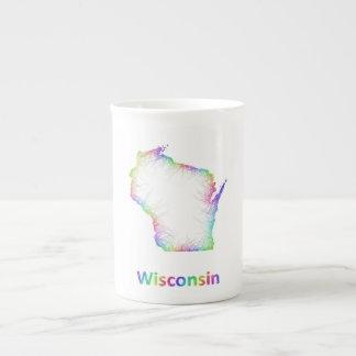 Rainbow Wisconsin map Tea Cup