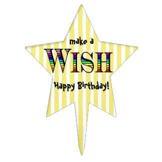 Rainbow Wish Star Cake Pick