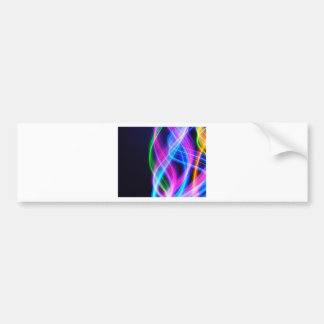 Rainbow with black laser like design bumper stickers